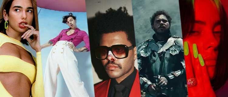 The Weeknd, Dua Lipa e Lady Gaga estão entre os indicados ao Billboard Music Awards 2021