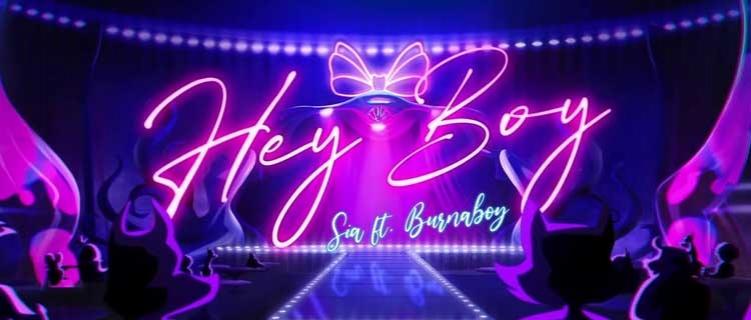 """Sia anuncia remix de """"Hey Boy"""" em parceria Burna Boy"""