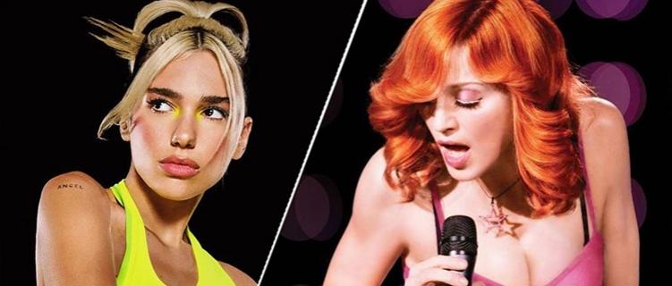 Colaboração entre Dua Lipa e Madonna pode acontecer em breve. Entenda!